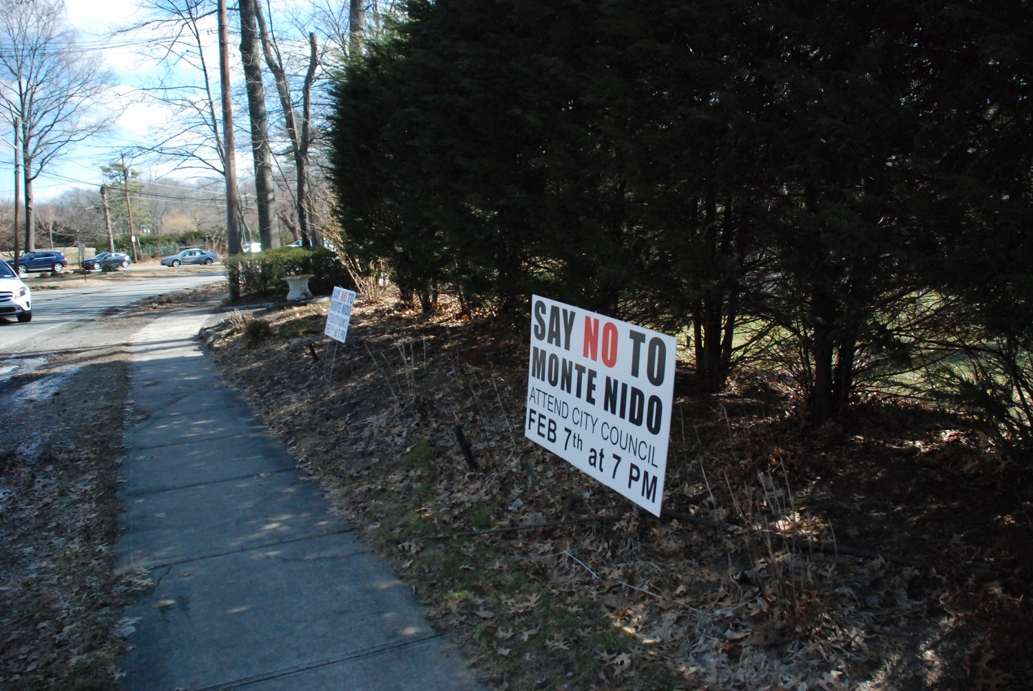 The neighbors of 1 St. Andrews Lane were vocal in their opposition to the proposal to house a group home there. These lawn signs could be seen at most houses on the block.