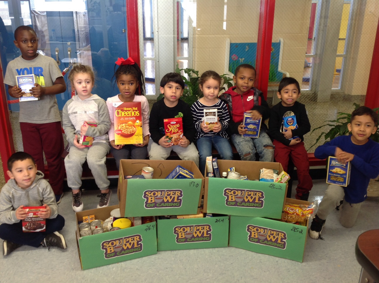 "Gribbin Elementary School recently participated in the ""Souper Bowl"" of Caring."