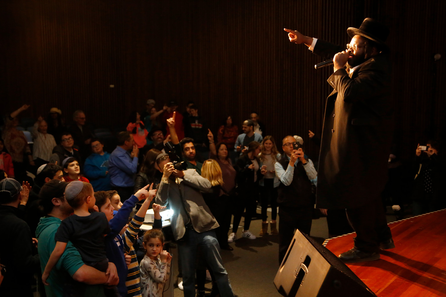Nissim Black, a Hasidic rapper from Seattle who converted to Judaism in 2012, performed at Long Beach High School on Feb. 26 for a Teen Unity concert that commemorated the Parkland, Florida shooting victims.