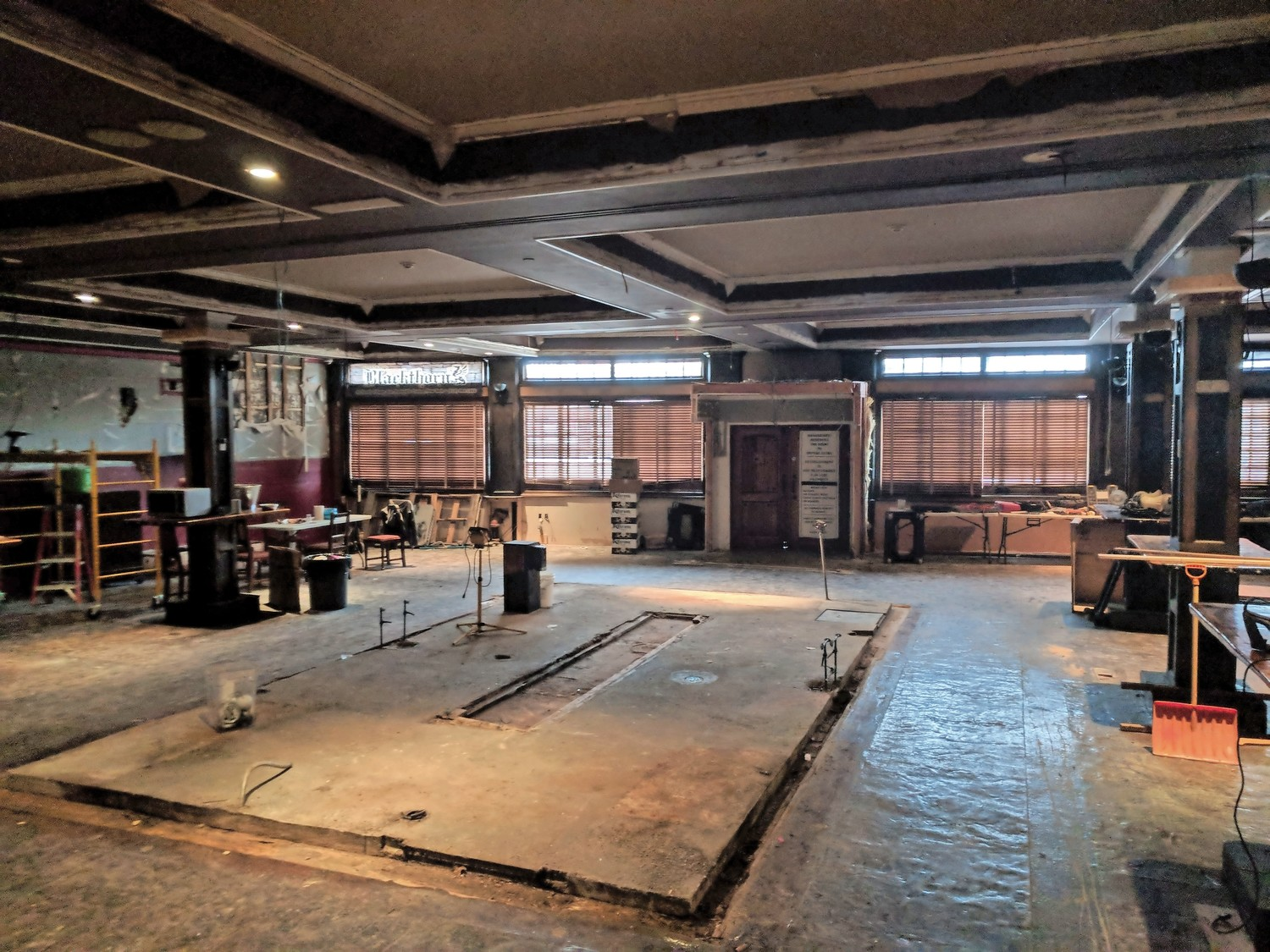 The inside of Cannon's Blackthorn, pictured earlier this week, is gutted, as the bar and restaurant is set to officially close in the next week.