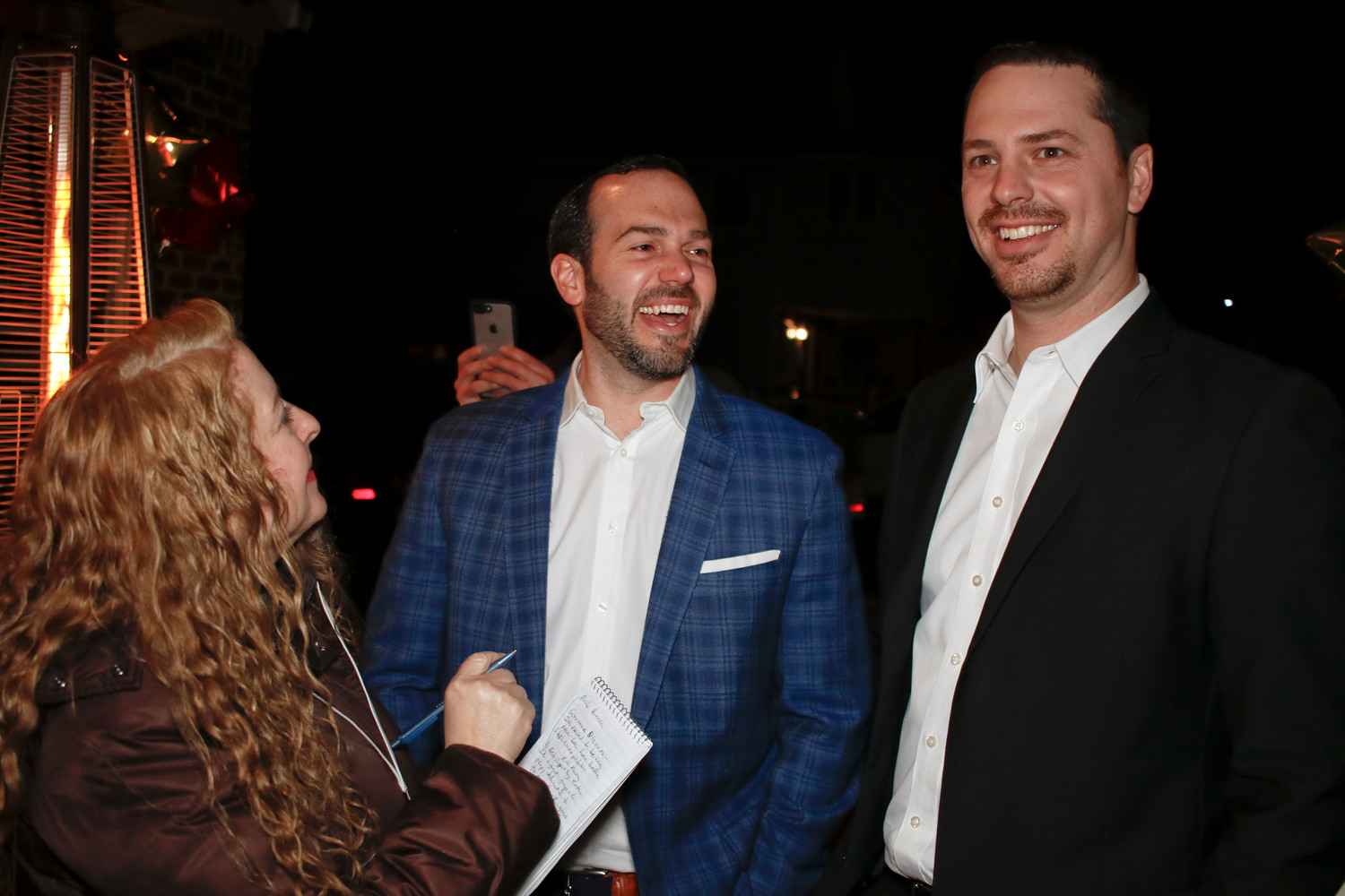 The paparazzi were all over the guests including Gabe  Haim and Ryan Schlotter who were interviewed by Laura Lane of the Oyster Bay Guardian.