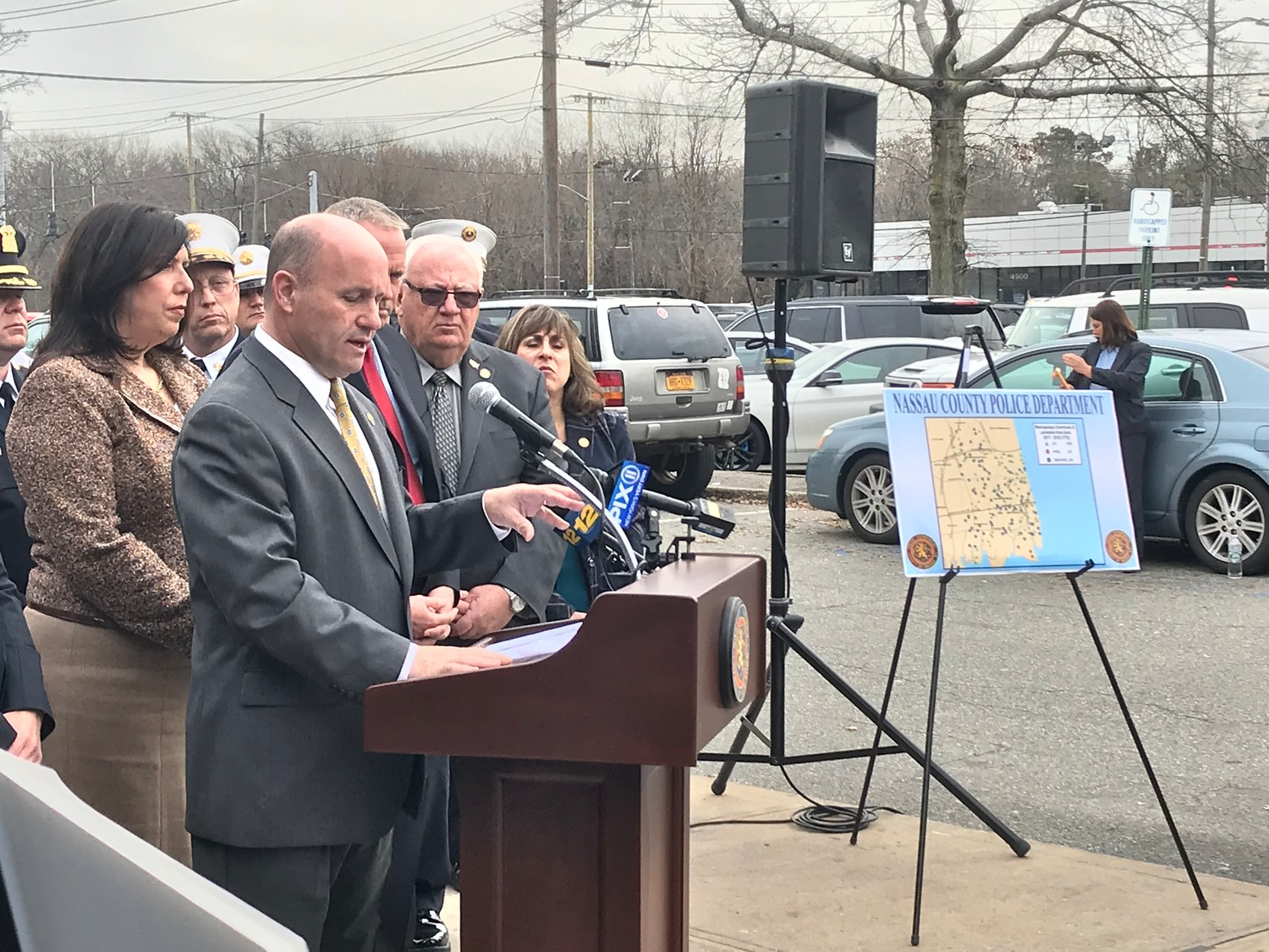 "Nassau County Police Commissioner Patrick Ryder identified Massapequa as the department's first identified opioid overdose ""hot spot"" through their OD Maps software. Nassau County District Attorney Madeline Singas and Nassau County Executive Laura Curran, as well as NCPD officers and administrators joined Ryder at the March 1 news conference."