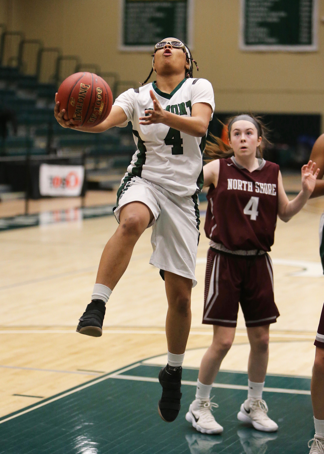 Senior Jada Fernandez exploded for 24 points to lead the Lady Spartans to a second straight Nassau Class A title, 75-44, over North Shore.