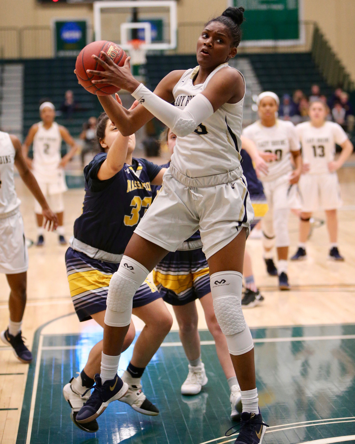 Baldwin senior Destiny Samuel scored six of her eight points in the opening quarter of the Nassau Class AA title game.