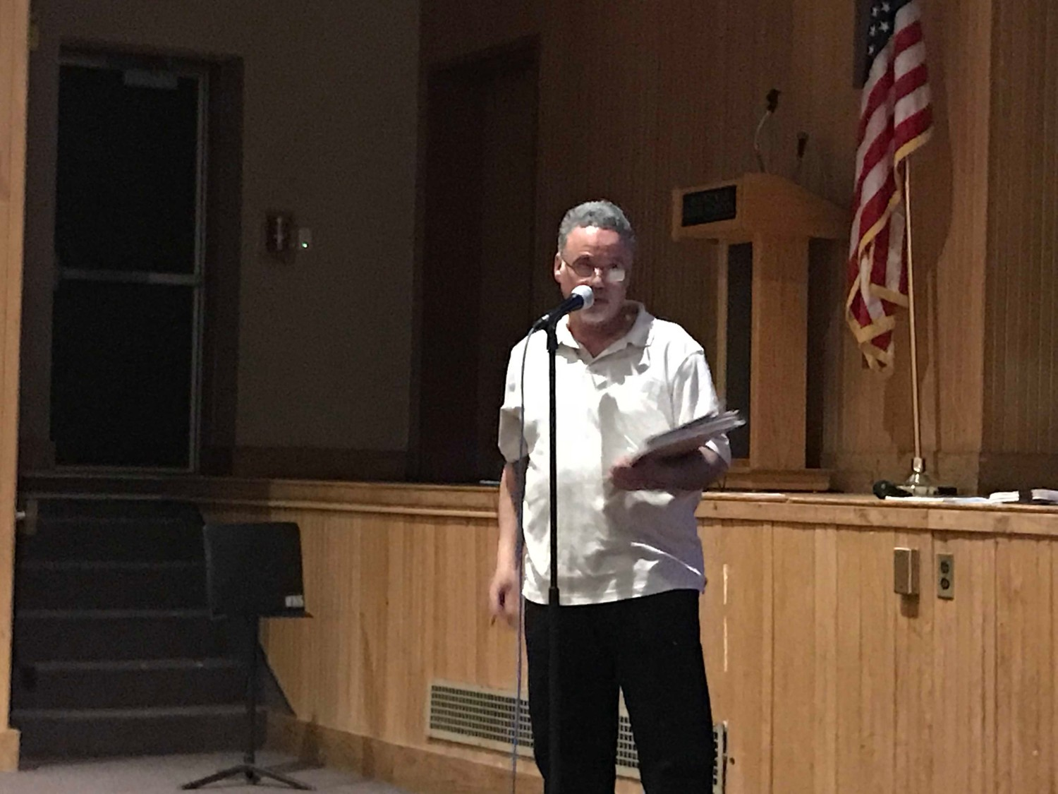 Phillip Franco, of Seaford Harbor, the co-chair of the Cedar Creek Oversight Committee, was one of several residents who spoke about the plan, and voiced his concerns over Cedar Creek being able to handle double its usual effluent load.
