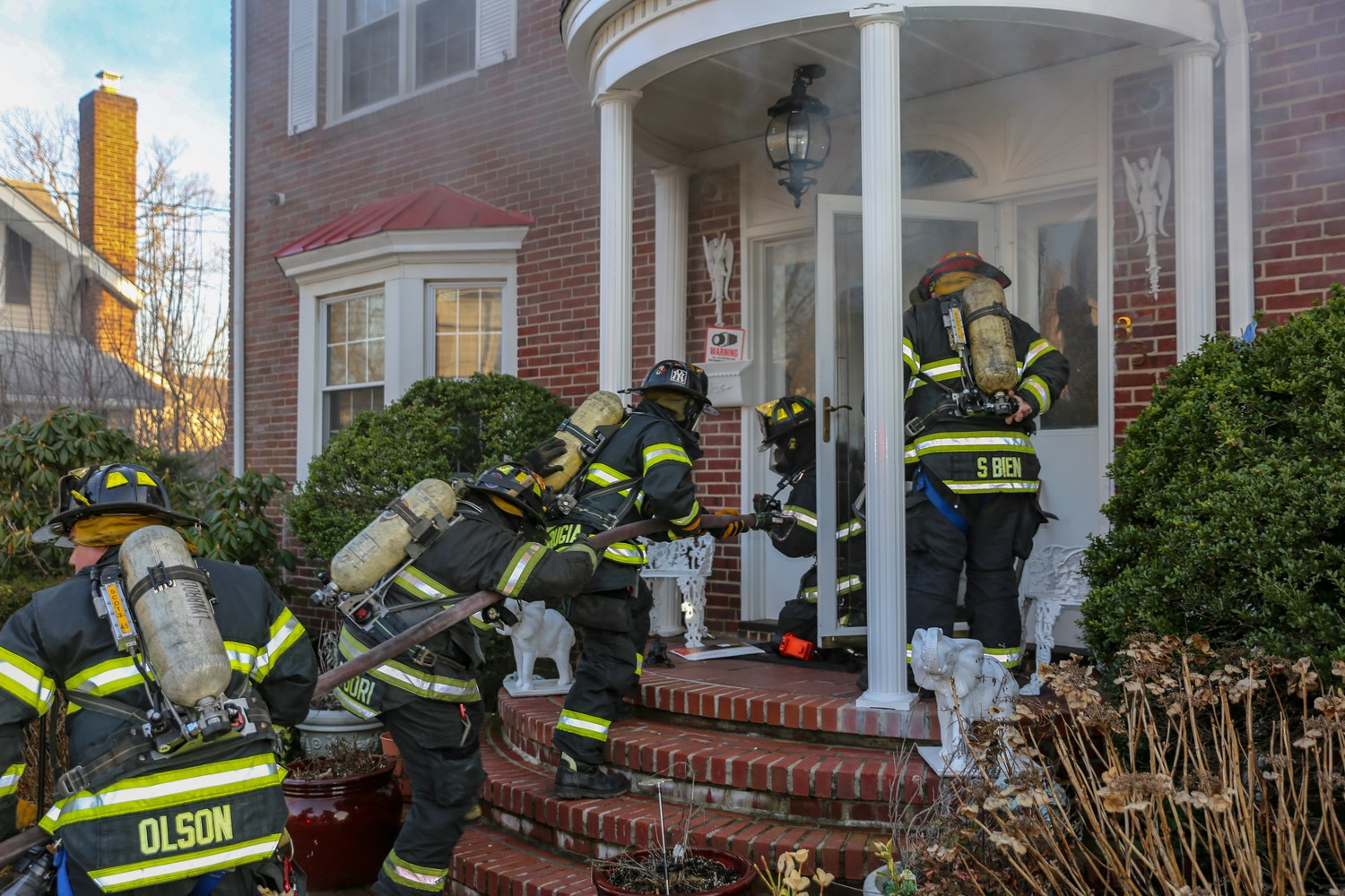 The Lynbrook Fire Department responded to a blaze on Vine Street on Feb. 21.