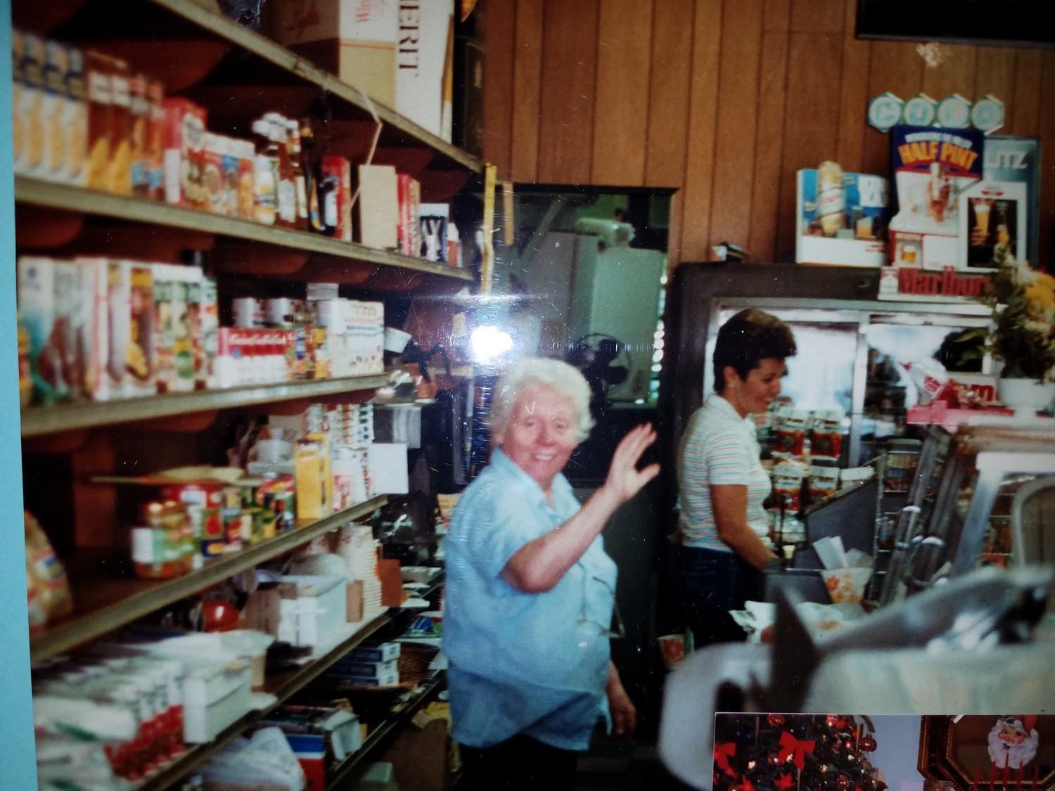 Myrtle W. Schatzle, pictured in the D&M Station Deli, on Ocean Avenue in East Rockaway, which she owned with her late husband, Donald.