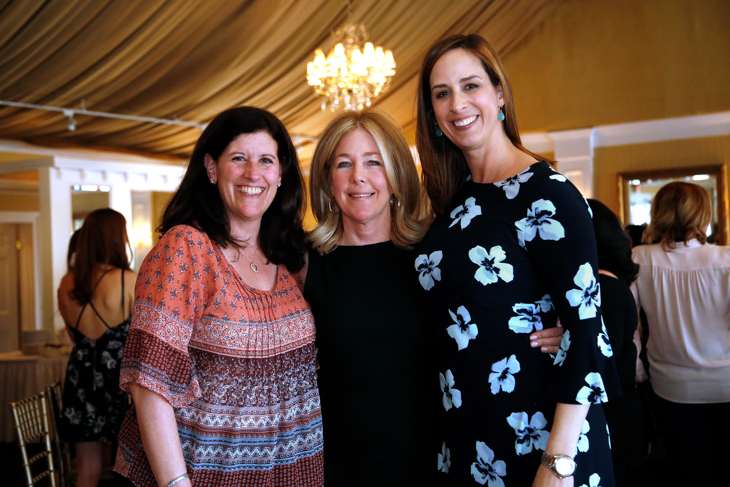 Deputy Mayor Kathy Baxley, left, vice president of the coalition, with co-presidents Peg McDonald and Erin O'Sullivan.