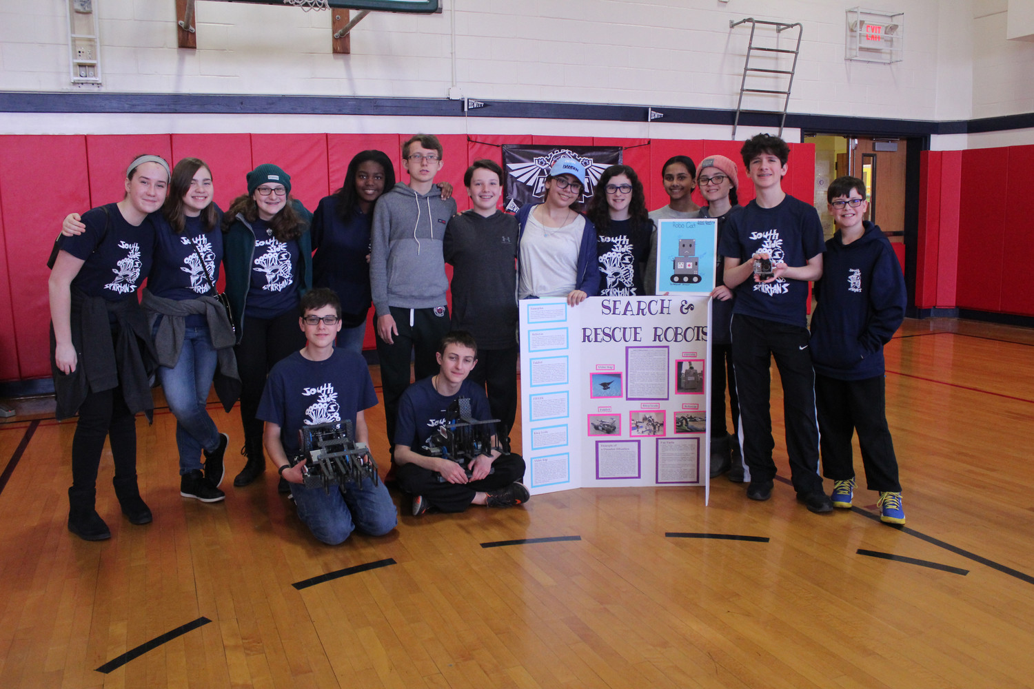 These South Side Middle School students were among about 50 from the school that competed in the Southern New York Vex IQ State Robotics Championship last Saturday.