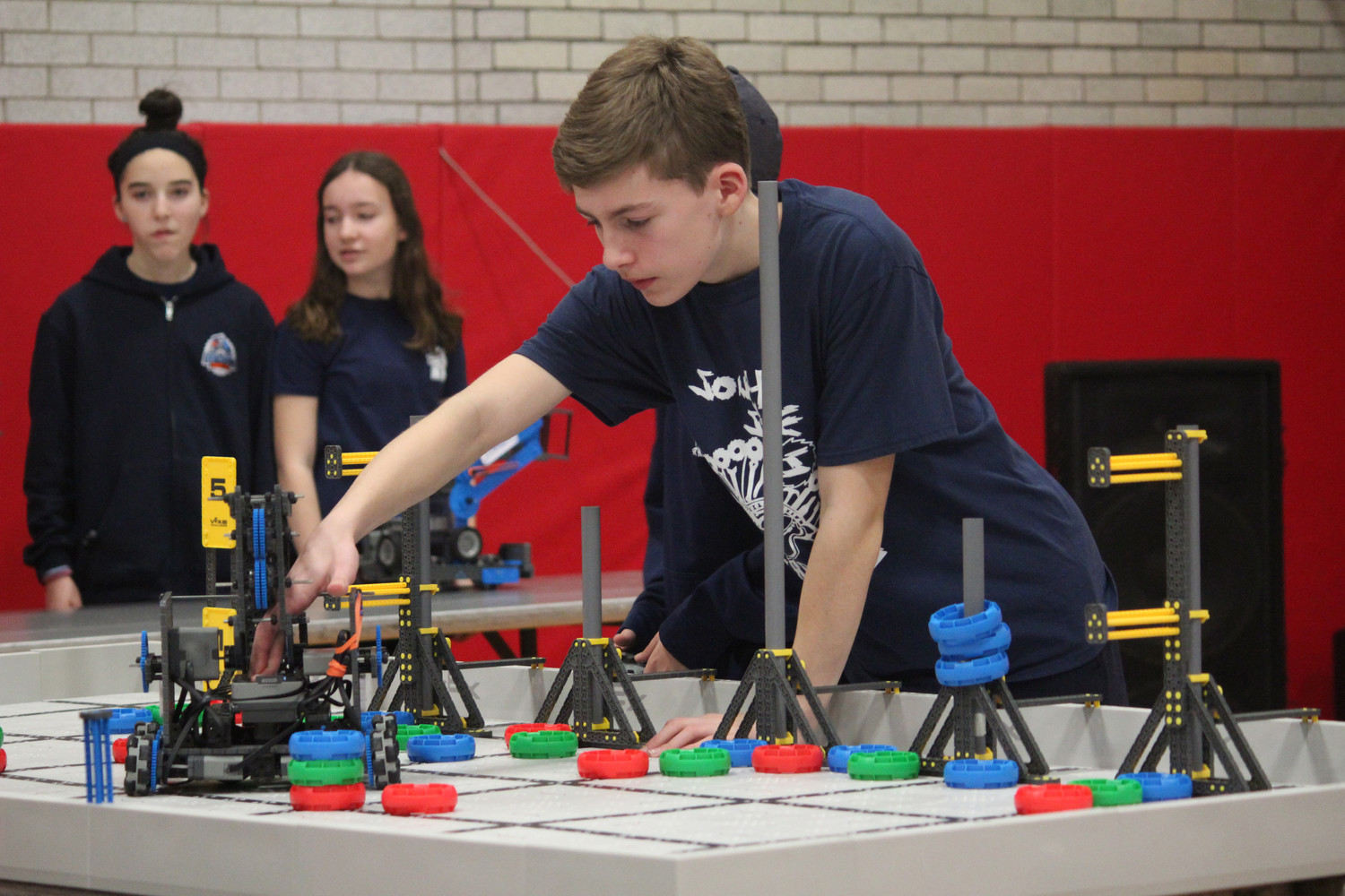 South Side Middle School eighth-grader Ben Lomot participated in one of the qualifying rounds.