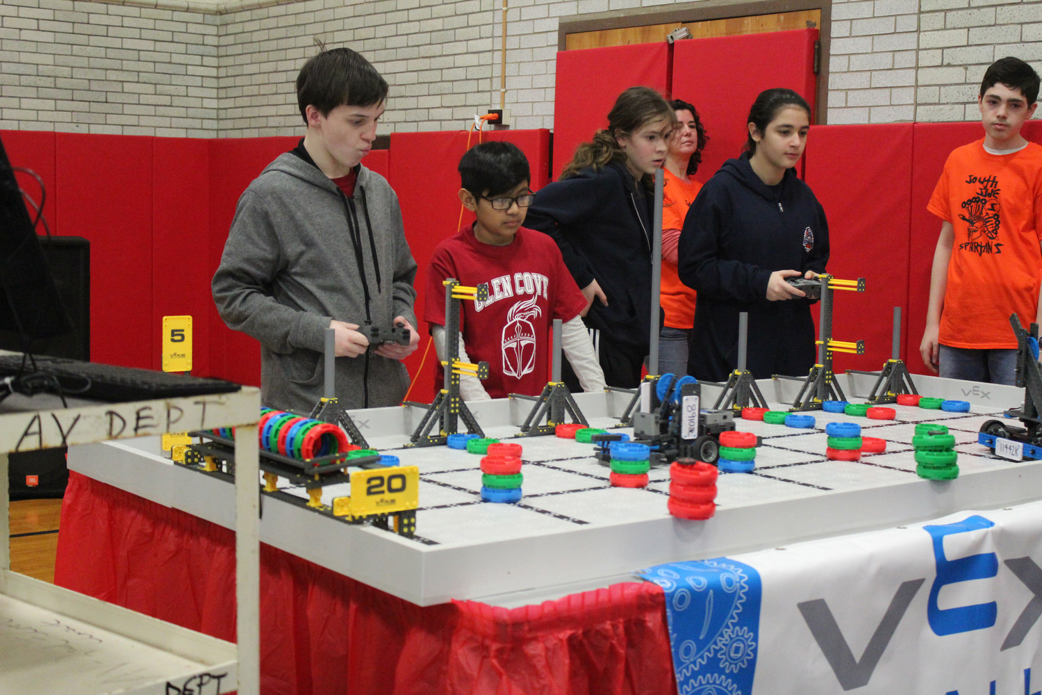 Glen Cove students Zachary Gotterbarn, left, and James Lopez competed in the early rounds.