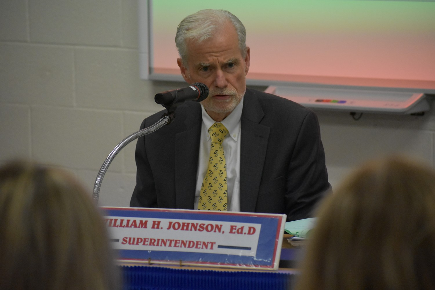 Rockville Centre Schools Superintendent Dr. William Johnson recommended certain immediate safety measures in all the district's schools at a Board of Education meeting on Feb. 28. The board approved them.
