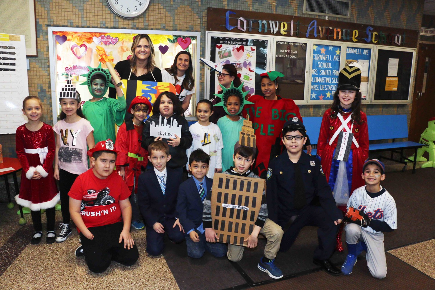 Cornwell Avenue Elementary School students kicked off Literacy Week by donning costumes that represented New York City during a Vocabulary Day Parade.
