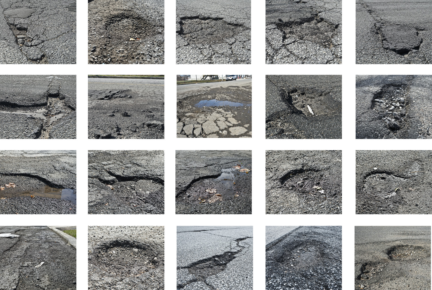 As winter wanes, potholes have appeared on streets across Oceanside and Island Park, presenting a danger to motorists.