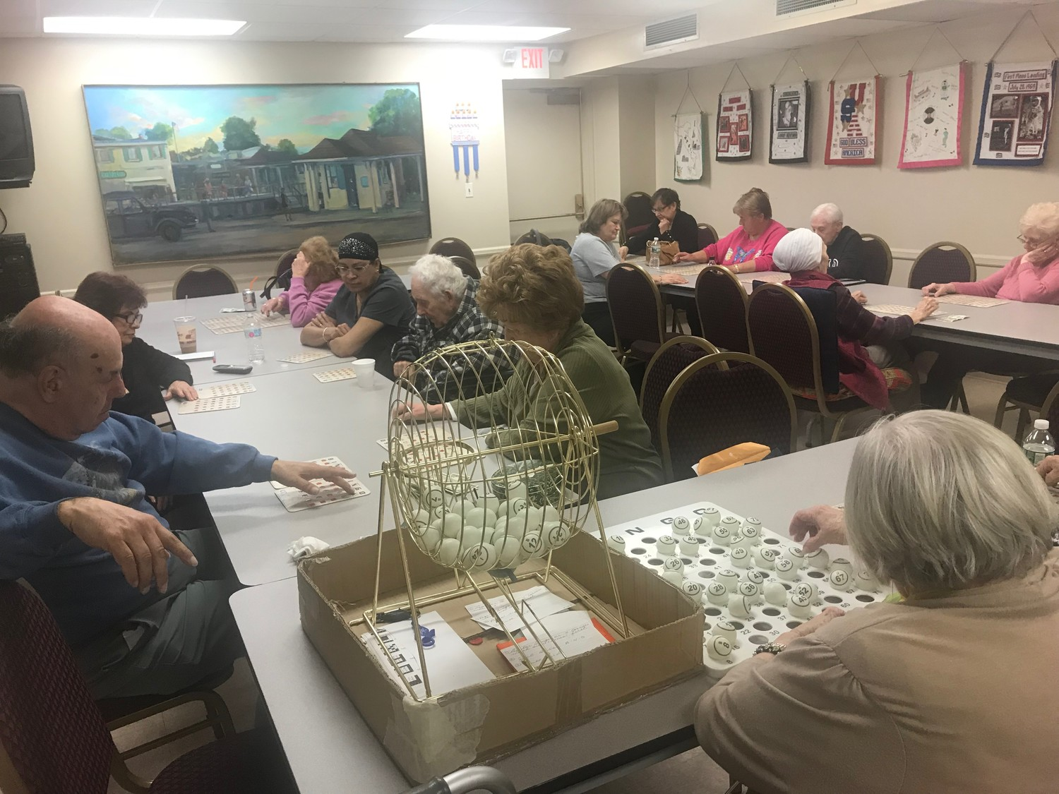 Bingo, above, and Pokeno were two of the activities many seniors cited as some of their favorites.