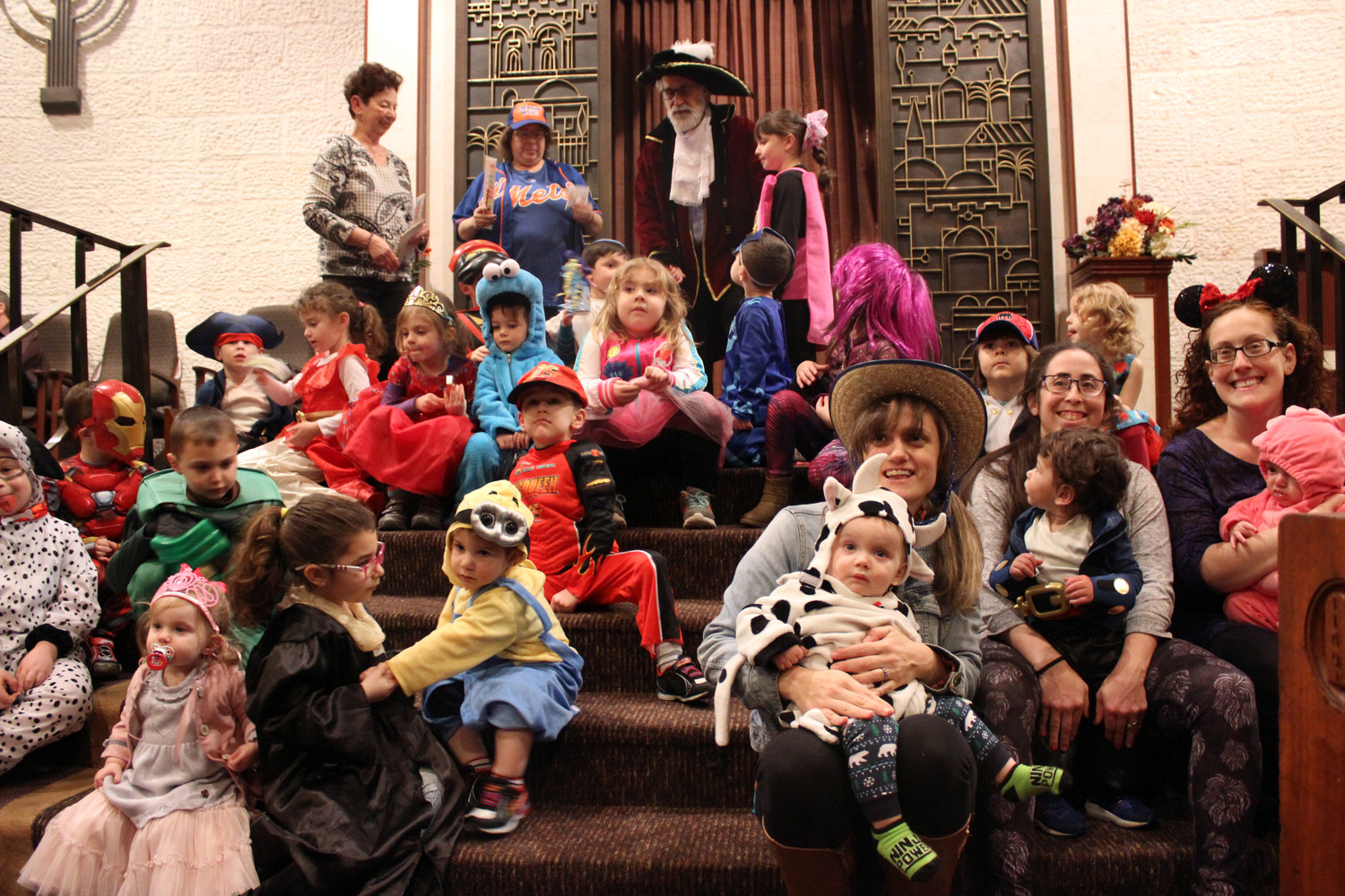 Congregants of the East Meadow Jewish Center celebrated the Jewish holiday of Purim on Feb. 28 by holding a costume parade and contest.
