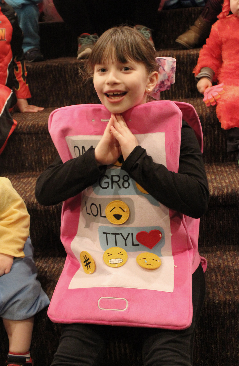 Adison Hurwitz, 7, was one of the contest winners for her I-Phone costume.