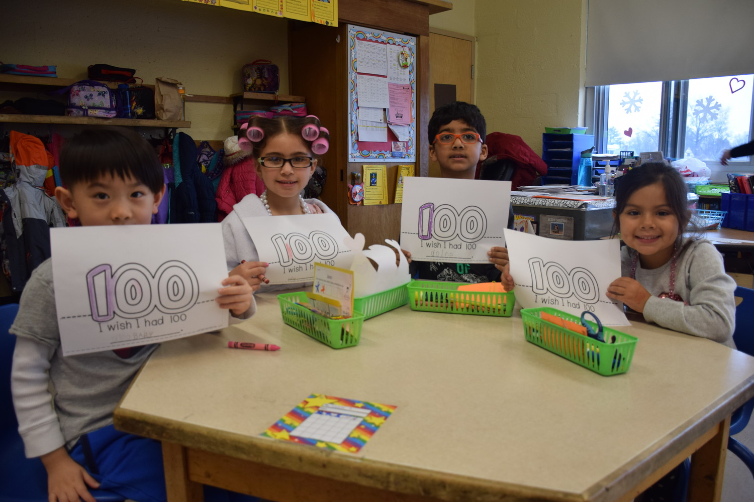 "In honor of their 100th day of school, Bowling Green Elementary School kindergartners penned answers to the statement ""I Wish I Had 100 . . ."""
