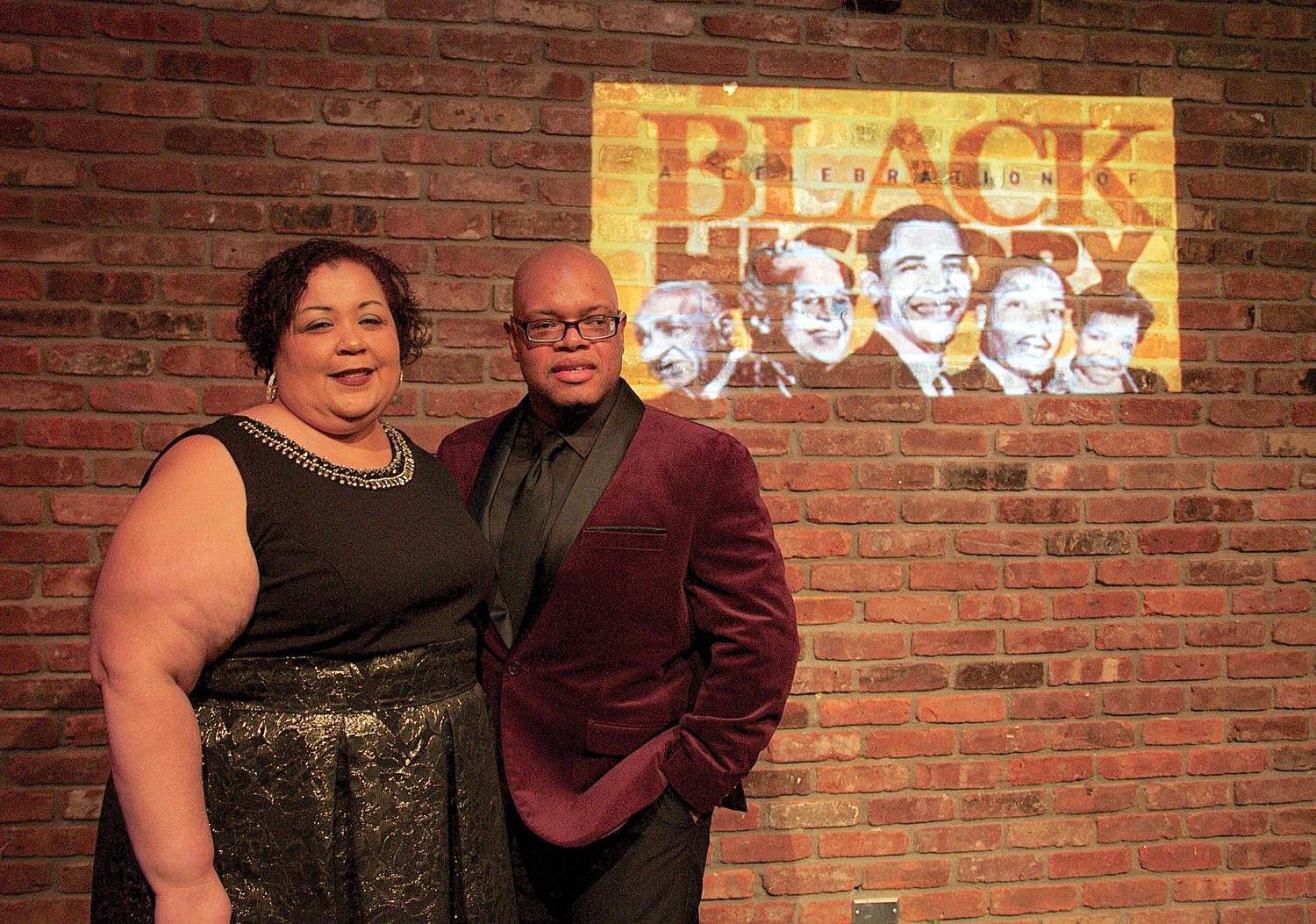 Co-hosts for a celebration of black history were Damary Mercado and Roderick Watson.