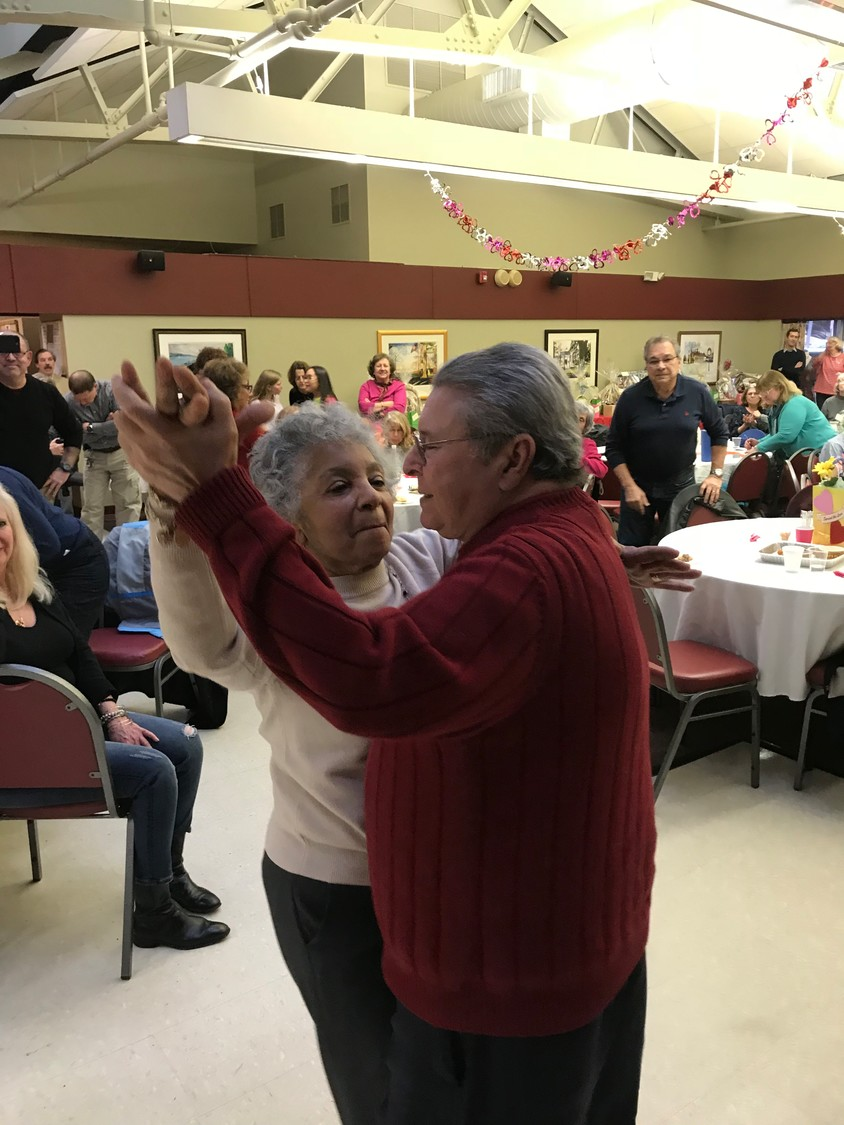 "Elsa and Pat Blanca, above, cut a rug to some salsa music at the ""Spread the Love"" fundraiser for Puerto Rico."