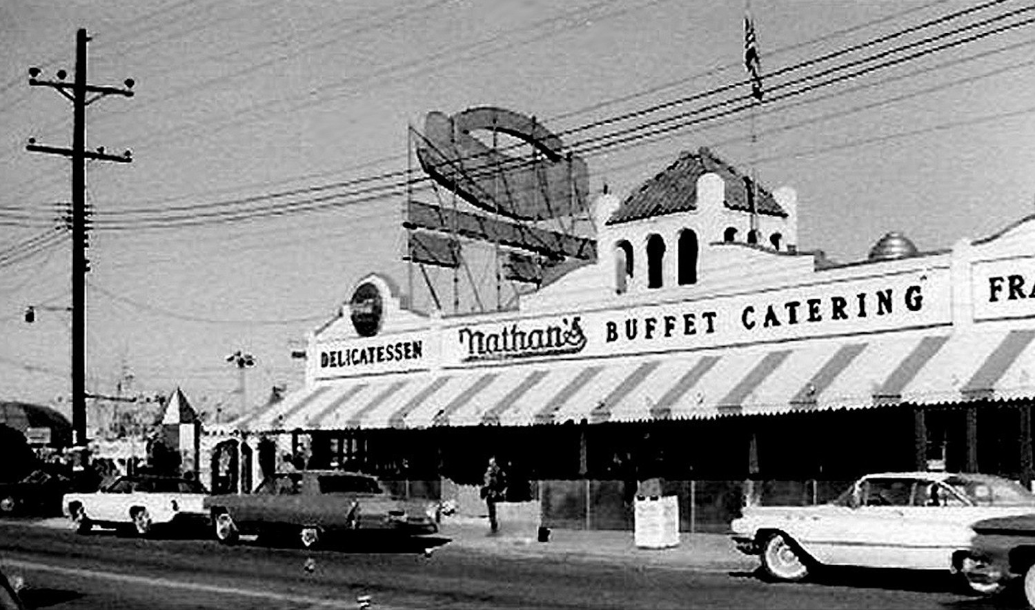 The site features many historical photos of Oceanside from the 1950s and 60s. Nathan's in Oceanside was the first of the hotdog restaurant chain to open outside of Coney Island.