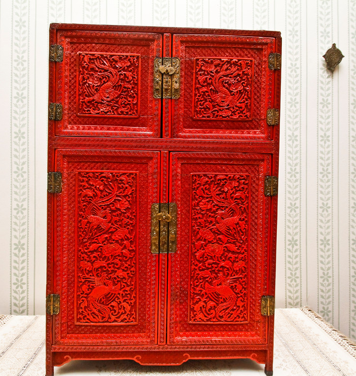 Edith Roosevelt acquired this Chinese lacquered cabinet after TR's death and kept it in the South Bedroom, which she used as the master bedroom. It contained letters from her son Quentin, who died in the war.