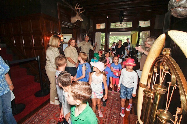 The children are the first visitors to enter the house in over three years.