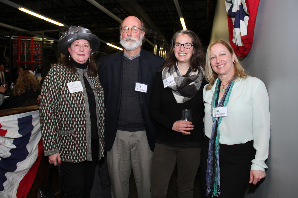 Susan Peterson, far left, Phil Blocklyn, Meredith Maus and Judy Palumbo enjoyed catching up.
