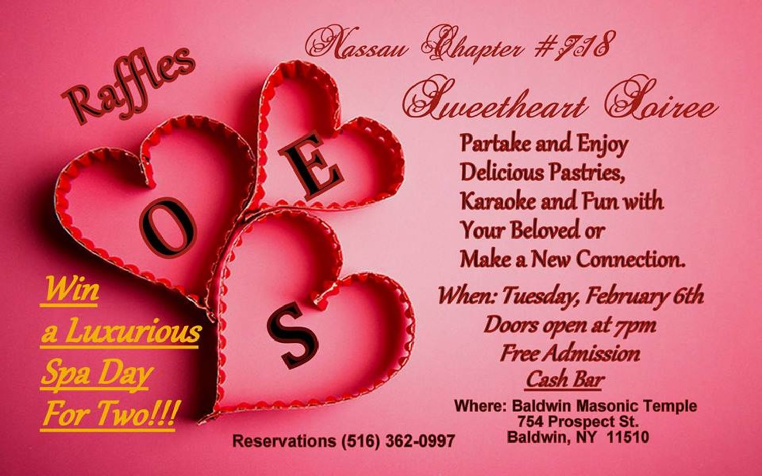 Nassau Chapter # 718 Sweetheart Soiree | Herald Community