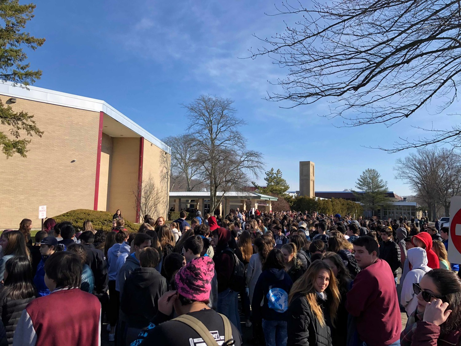 Students left the comfort of their classrooms and walked out in solidarity with thousands of other students across America to remember the victims of the Parkland, Fla., shooting.