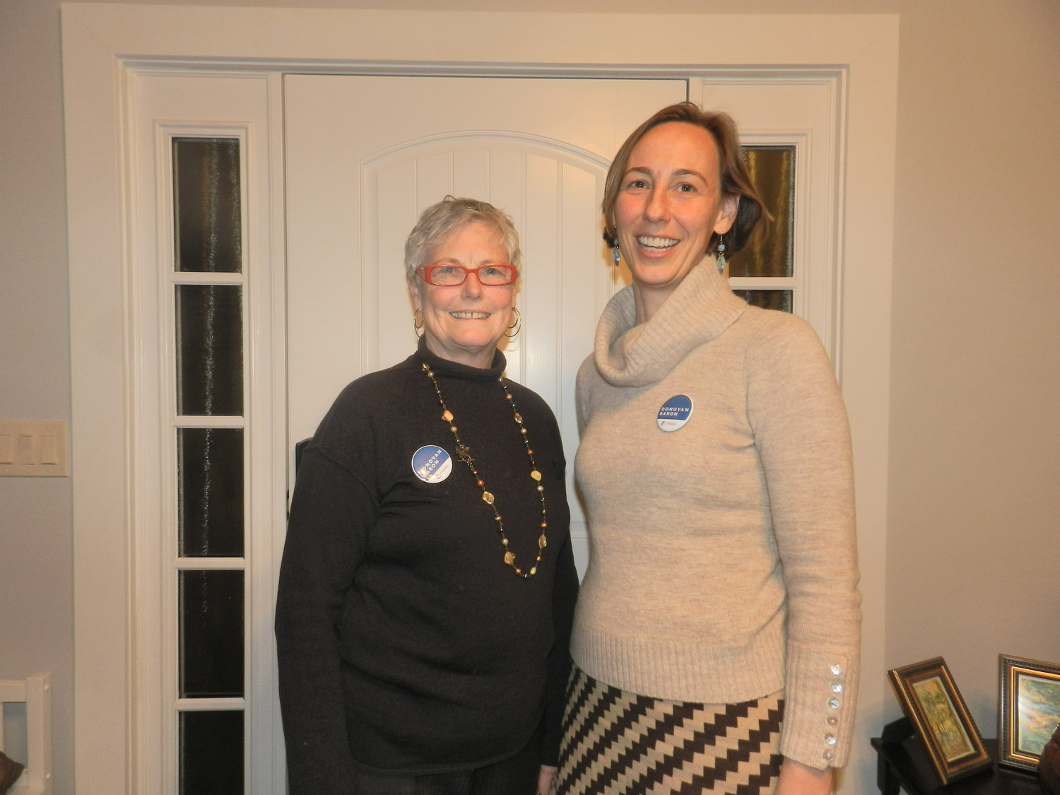 Sea Cliff's Open Government candidates Terryl Donovan, left, and Liz Baron.