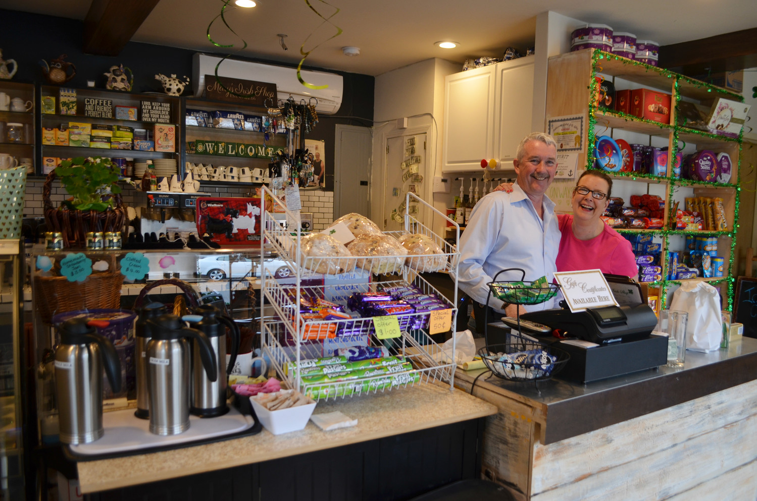 Mary and Gerry Conway opened Mary's Irish Shop on West Beech Street in the summer of 2016.