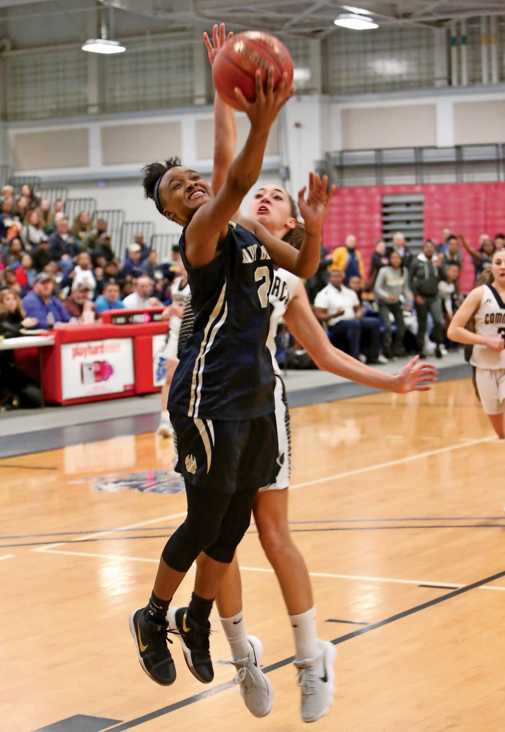 Senior Aziah Hudson scored 18 of her 27 points in the first quarter to help Baldwin build a 31-9 lead against Commack.