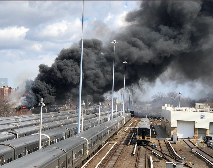 Fire department activity adjacent to the LIRR tracks east of Jamaica Station has left the Port Jefferson, Ronkonkoma, Oyster Bay and Hempstead lines suspended.
