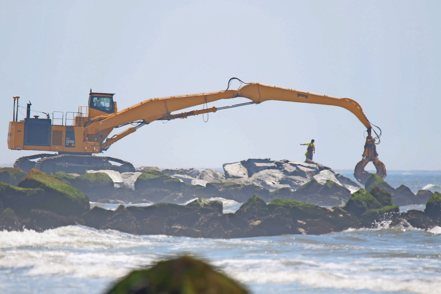 The Army Corps of Engineers recently completed work on 15 jetties in Long Beach.