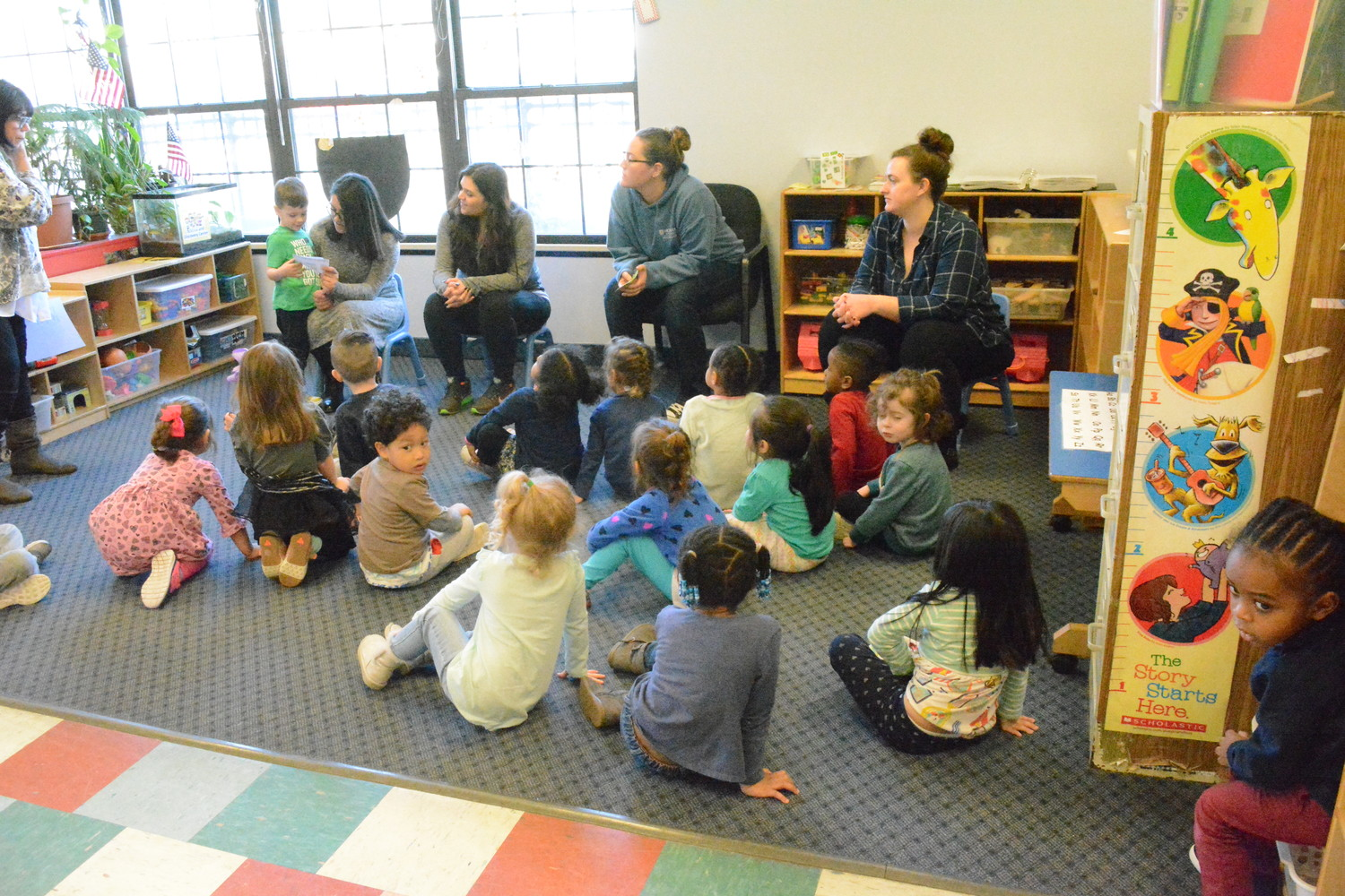 Baldwin students got a hands-on lesson in child care during Shadow Day.