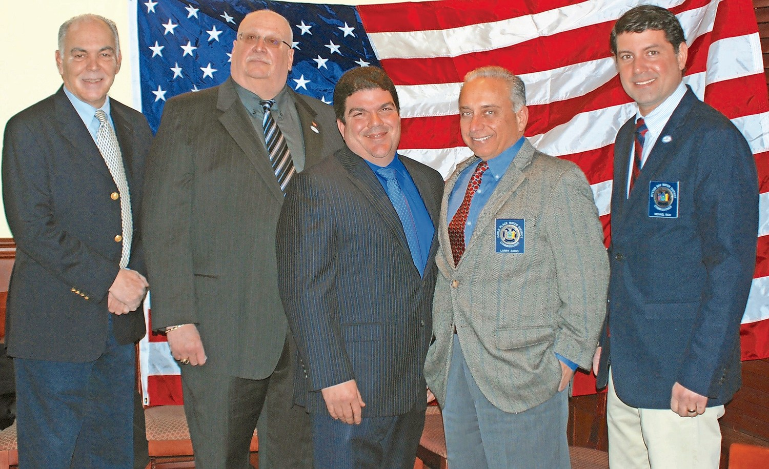 NSWCA's elected Board for 2018 that is comprised of Secretary Kenneth P. Wenthen Jr., far left, Second Vice President William Schuckmann, President Vincent Abbatiello, Treasurer Lawrence F. Zaino Jr. First Vice President Michael F. Rich III.