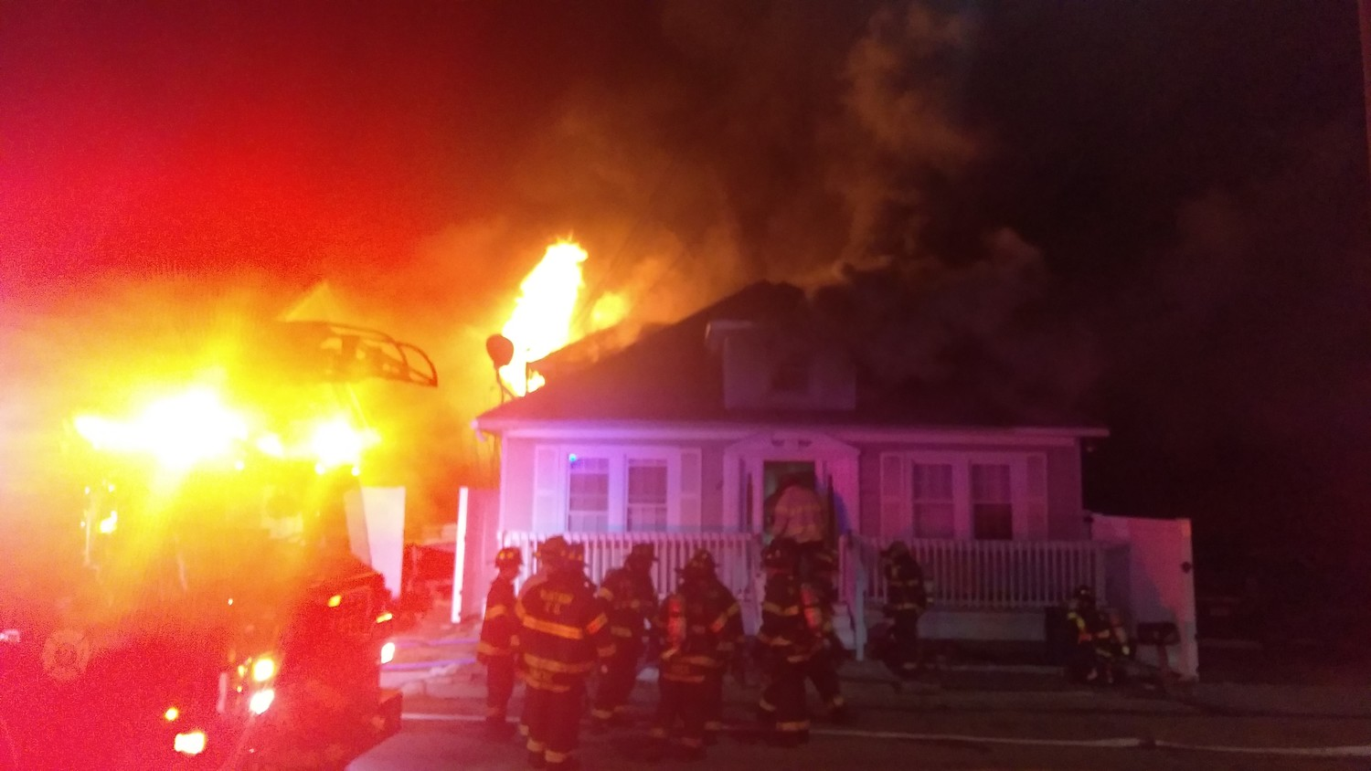 The fire rendered the home of former Wantagh fire department chief Scott Craft uninhabitable.