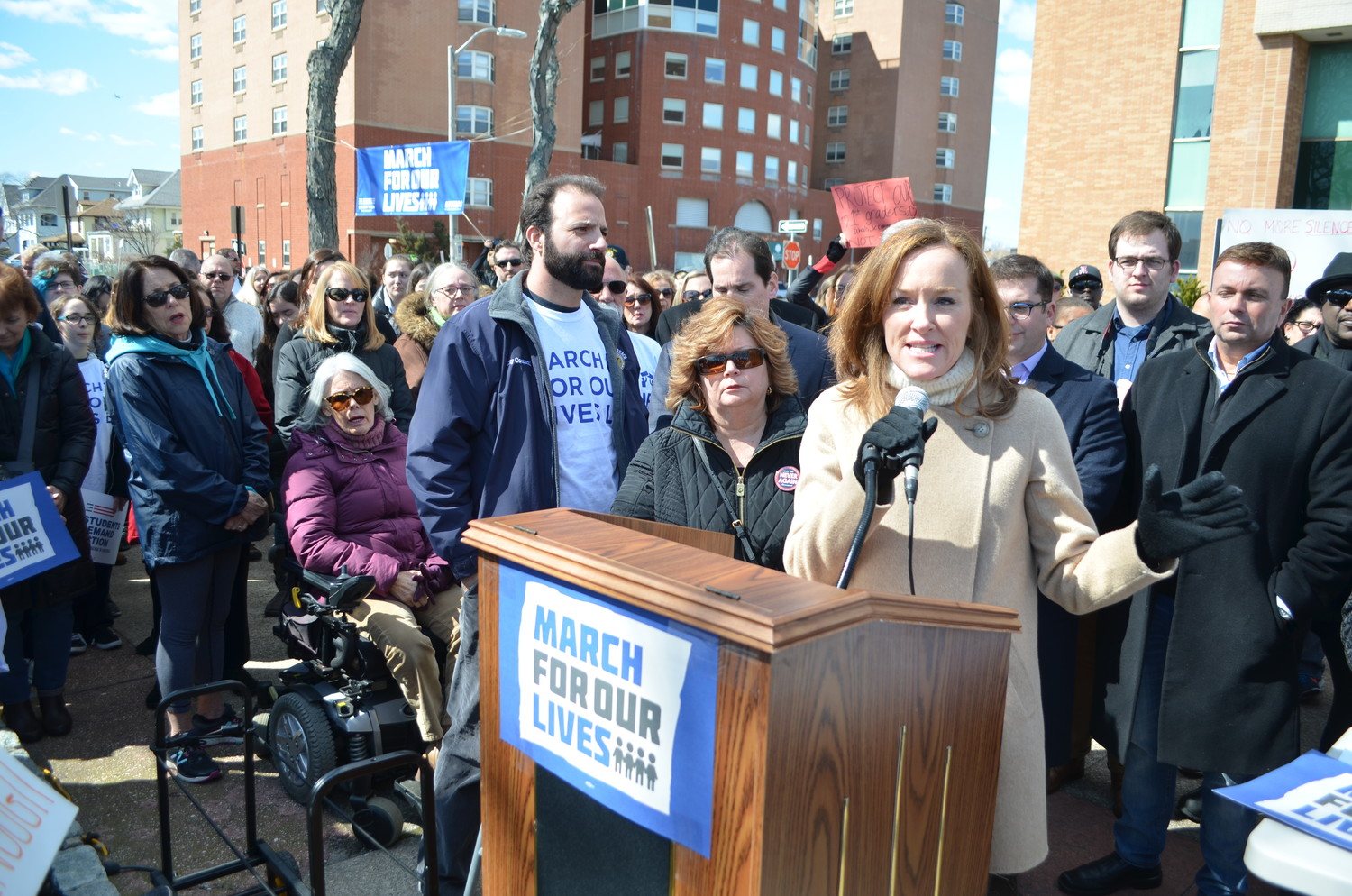 U.S. Rep. Kathleen Rice encouraged young students to register to vote.