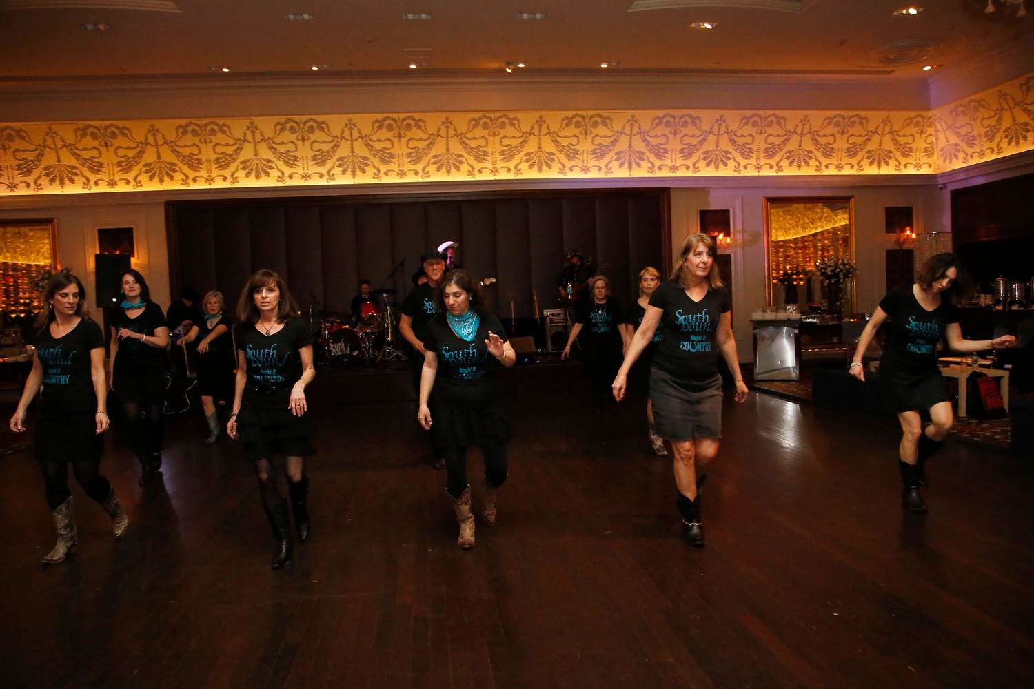 The SouthBound troupe demonstrated country line dancing at the Kulanu dinner.