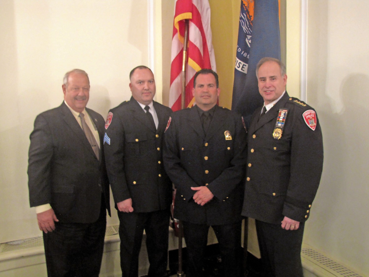 Two Freeport police officers sworn in and promoted | Herald