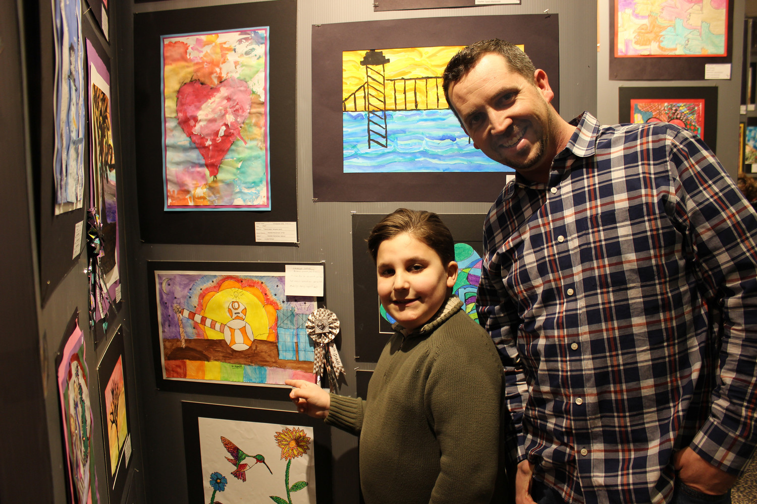 fourth grader wins award from l i art teachers association herald