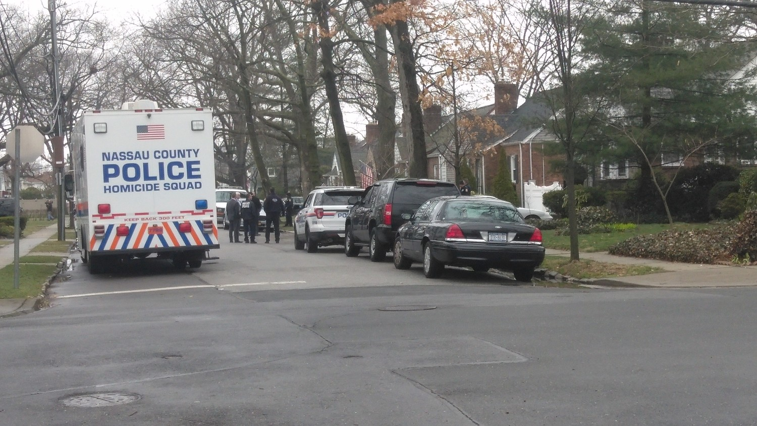 Nassau County police are investigating a homicide at 109 East Euclid Street