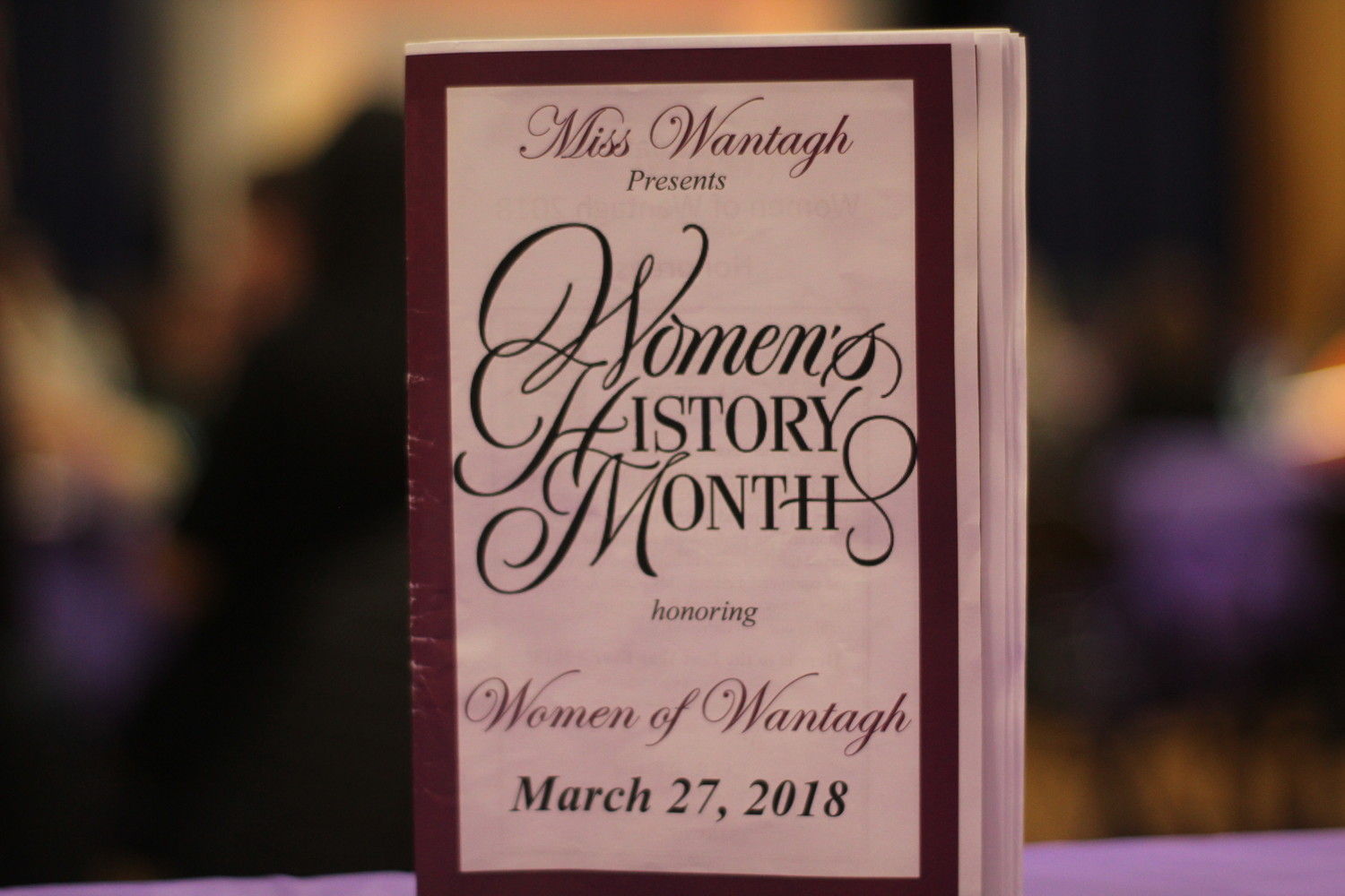 This year's Women of Wantagh ceremony took place on March 27 at the Wantagh Elementary School gymnasium. The Miss Wantagh court mothers helped coordinator Ella Stevens set the event up through dessert baking and decorating the event space.