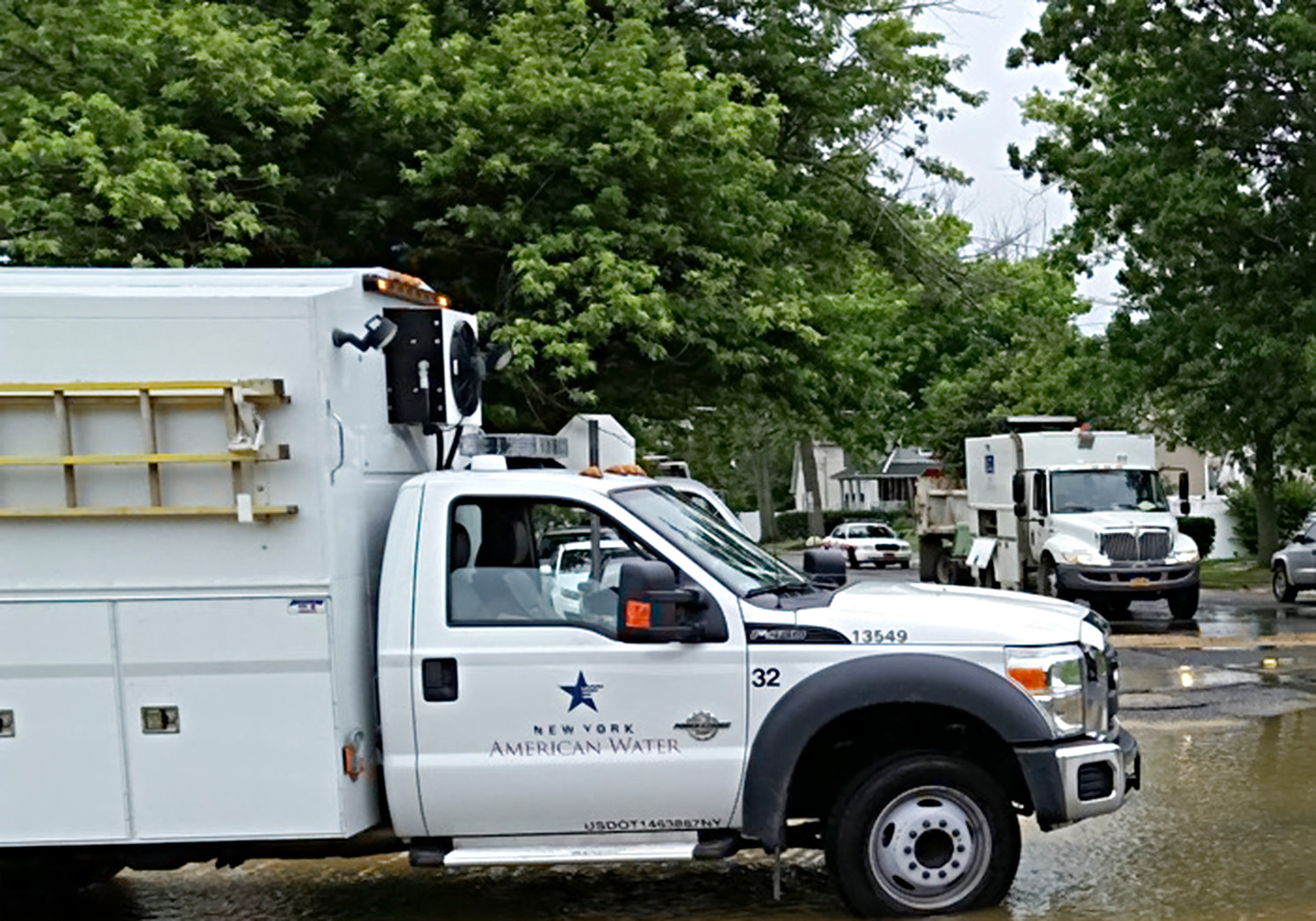 New York American Water will be replacing several water service lines throughout Baldwin, in an effort to help improve the community infrastructure.