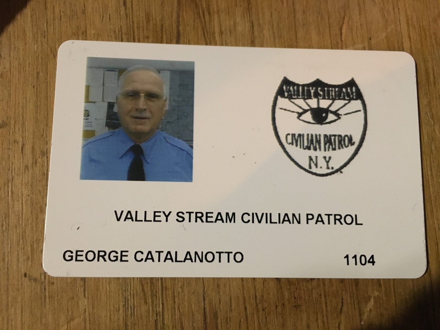 Members of the Civilian Patrol get ID cards like this one.