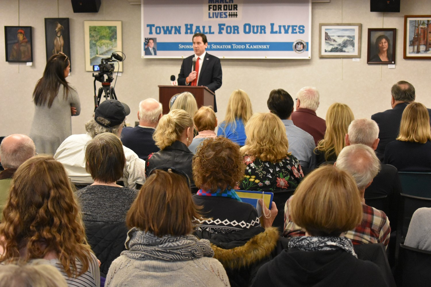 More than 100 people attended the Town Hall For Our Lives event at the Rockville Centre Public Library last Saturday.