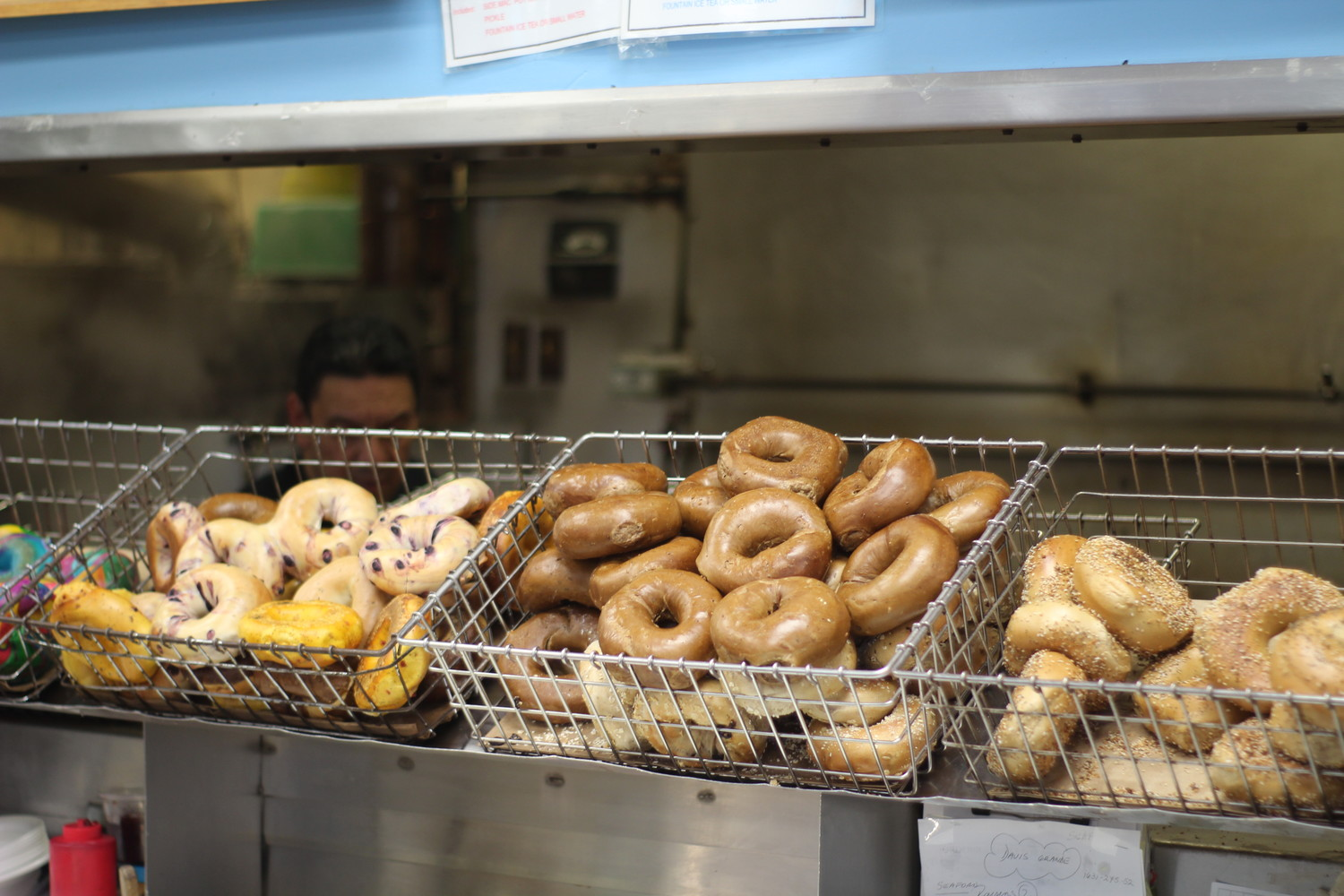 Because the Seaford Bagel store is owned by CRJ Trading Co., their bagels are made fresh on-site out of the fresh ingredients ordered in wholesale.