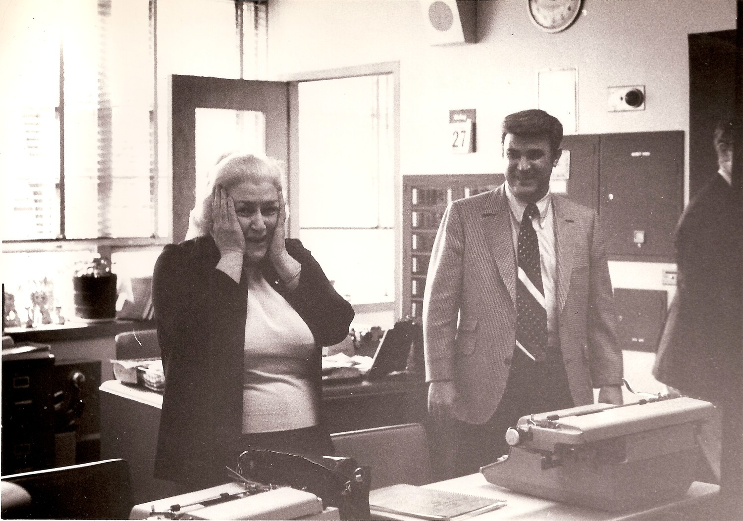 Fifi McFadden, left, taught English at Bethpage High School for 26 years, and retired in 1990.