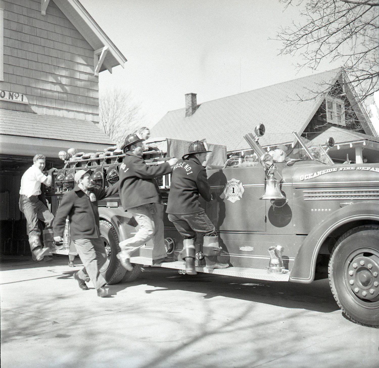 Members of Hose Company No. 1 responded to an alarm around the 1950s. The book is slated to contain 500 such historical pictures.